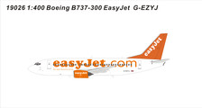 19026 | Panda Models 1:400 | Boeing 737-700 Easy Jet G-EZYJ | is due: September 2019