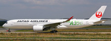 EW4359003A | JC Wings 1:400 | Airbus A350-900 JAL JA03XJ( JAL Green),(flaps down) | is due: October 2019