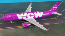 JF-A320-006 | JFox Models 1:200 | Airbus A320-251N WOW Air TF-NEO (with stand)