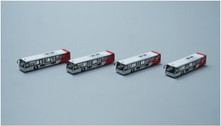 FWAA4003 | Miscellaneous 1:400 | Airport Accessories - 4 Piece Qantas Buses