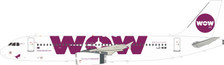 JF-A320-008 | JFox Models 1:200 | Airbus A320-232 WOW Air LZ-WOW (with stand) | is due: November 2019