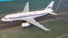 JF-A319-003 | JFox Models 1:200 | Airbus A319-131 SAS 'Retro' OY-KBO (with stand)