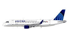 G2UAL784   Gemini200 1:200   Embraer E-175 United N605UX (with stand)   is due: November 2019