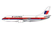 GJUAL1203 | Gemini Jets 1:400 1:400 | Boeing 737-300 United Saul Bass N327UA | is due: November 2019