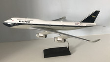 DMGBYGC | Desktop Models 1:100 | Boeing 747-400 British Airways BOAC G-BYGC 100th anniversary scheme