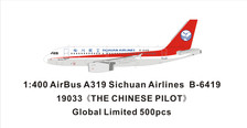 PM19033 | Panda Models 1:400 | Airbus A319 Sichuan Airlines B-6419 The Chinese Captain