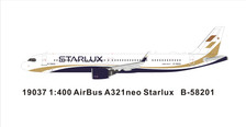 PM19037 | Panda Models 1:400 | Airbus A321neo Starlux B-58201 | is due: January 2019