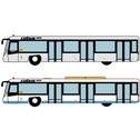 FWAA4002 | Miscellaneous 1:400 | Airport Accessories - 4 Piece white buses Hong Kong IAP | is due: January 2020