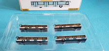 FWAA4002 | Miscellaneous 1:400 | Airport Accessories - 4 Piece white buses Hong Kong IAP