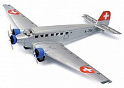 3551901 | Schuco 1:72 | Junkers JU-52/3M A-701 Swiss Air Force a metal model with undercarriage and a stand| is due: 2020
