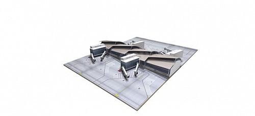 Herpa Wings 1:500 Airport Bus Set 533706