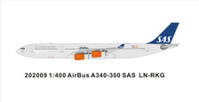 PM202009 | Panda Models 1:400 | Airbus A340-300 SAS LN-RKG Panda logo | is due: May 2020