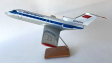 AB87215 | Custom Made Desktop Models 1:200 | Yakovlev YAK-40 Aeroflot CCCP-87215 (with stand) no undercarriage
