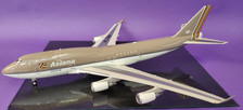 B-744-OZ-7418 | Blue Box 1:200 | Boeing 747-400 Asiana HL7418 (with stand)