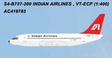 AC419783 | Aero Classics 1:400 | Boeing 737-200 Indian Airlines VT-ECP