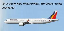 AC419787 | Aero Classics 1:400 | Airbus A321neo Philippines RP-C9933