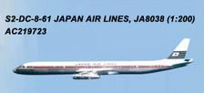 AC219723   Aero Classics 200 1:200   DC-8-61 JAL JA8038