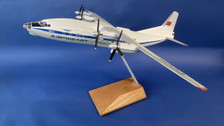 AB11418 | Custom Made Desktop Models 1:100 | Antonov AN-12 Aeroflot CCCP-11418 (with stand) no undercarriage