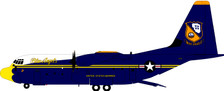 B-130-BA-170 | InFlight200 1:200 | C-130J Hercules US Marines Blue Angels 170000 (with stand) | is due: October 2020