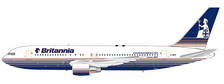 XX2646 | JC Wings 1:200 | Boeing 767-200ER Britannia G-BRIF (with stand) | is due: October 2020