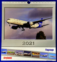 CALF21 | Gifts | Wall Calendar - Flugzeuge Airplanes 2021 (with 24 postcards)