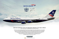 APGBNLY | Gifts | Airliner Print G-BNLY Boeing 747-436 British Airways landor