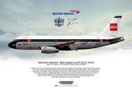 APGEUPJ | Gifts | Airliner Print G-EUPJ Airbus A-319 British Airways BEA