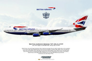 APGCIVF | Gifts | Airliner Print G-CIVF Boeing 747-436 British Airways