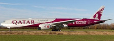 JC4489A | JC Wings 1:400 | BOEING 777-300(ER) Qatar Airways WORLD CUP Livery flaps down A7-BEB | is due: January 2021