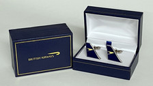 CufflinksetBOAC | Gifts | BOAC historic cufflinks - A high quality 3mm thick hard enamel pair of cufflinks presented in a gift box