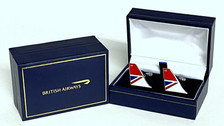 CUFFNEGUS | Gifts | British Airways - NEGUS historic cufflinks. A high quality 3mm thick hard enamel pair of cufflinks presented in a gift box.