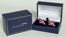CUFFCHATHAM | Gifts | British Airways - Chatham Dockyard cufflinks. A high quality 3mm thick hard enamel pair of cufflinks presented in a gift box.