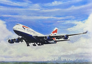 Card001 | Gifts | British Airways Boeing 747-400 Greetings Card