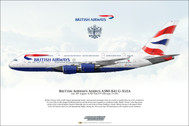 APGXLEA | Gifts | Airliner Print G-XLEA Airbus A380-841 British Airways