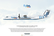 APGECOR | Gifts | Airliner Print G-ECOR Dash-8-Q402 FlyBe