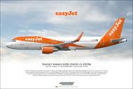 APGUZHA | Gifts | Airliner Print Airbus A320-251N Easyjet G-UZHA
