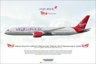 APGVAAH | Gifts | Airliner Print Boeing 787-9 Virgin Dream Girl G-VAAH