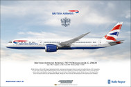 APGZBKH | Gifts | Airliner Print Boeing 787-9 British Airways G-ZBKH