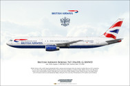 APGBNWD | Gifts | Airliner Print G-BNWD Boeing 767-300 British Airways