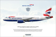 APGEUPX | Gifts | Airliner Print G-EUPX Airbus A319-131 British Airways