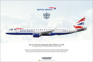 APGLCYR | Gifts | Airliner Print ERJ-190SR G-LCYR British Airways