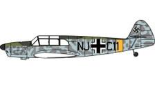 AC107 | Oxford Die-cast 1:72 | Messerschmitt Bf 108 IWM Duxford | is due: May 2021