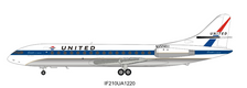 IF210UA1220 | InFlight200 1:200 | SE 210 Caravelle V1-R United Airlines N1006U (with stand)