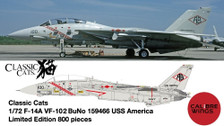 CBW721416 | Calibre Wings 1:72 | F-14A US Navy VF-102 159466 USS America | is due: June 2021