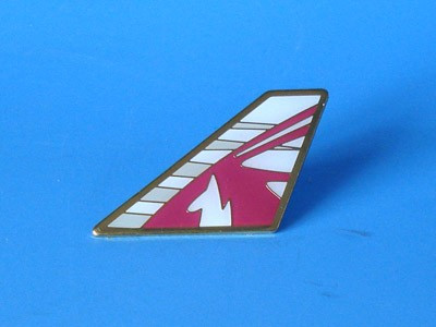 PIN157 | Lapel Pins | Tail Pin - Qatar Airways - Aviation Retail Direct