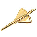 CPBG1 | Clivedon Collection | Plane Pin 3D - Concorde ( Gold plated,with box)