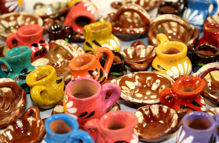 Mini Party Favor Mexican Clay Pots Dollhouse Miniatures