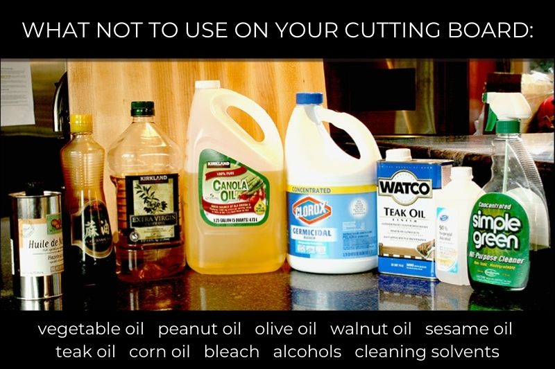 Do not use with cutting boards