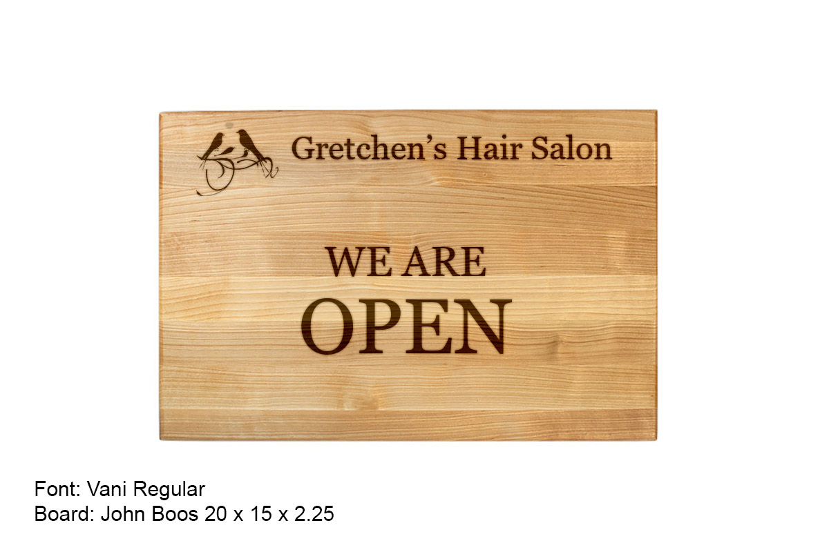 Gretchen Custom Open Sign