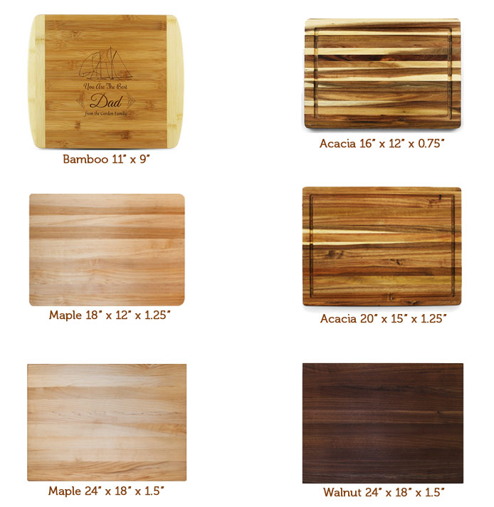 Personalized Cutting Board Wood Types
